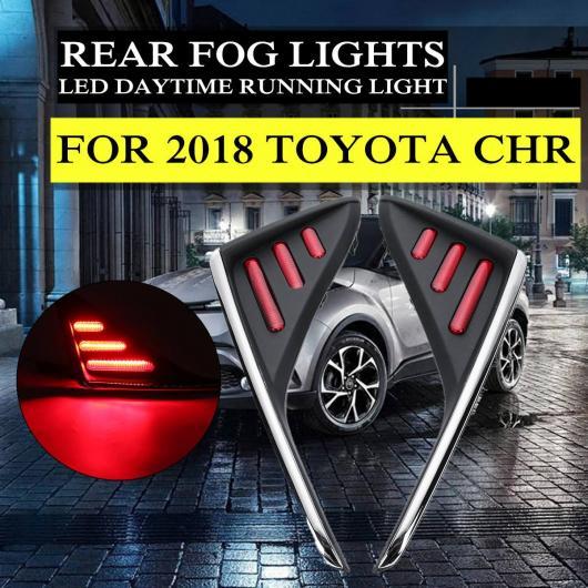 AL 2ピース ABS LED リア フォグ ランプ ライト テールライト 適用: 2018 トヨタ CHR ランニング ライト デイタイム ランニング ライト 耐振動 AL-HH-1969