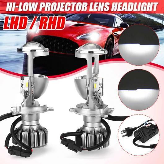 AL 2ピース H4 9003 LED ミニ/MINI(BMW) BI-LED プロジェクター ヘッドライト レンズ ヘッドランプ レトロフィット HI-LOW ビーム 5500K IP65 左ハンドル 左・右ハンドル 右 AL-HH-2038