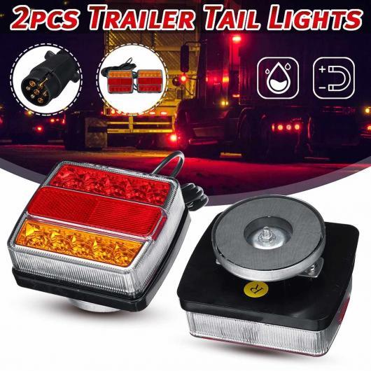 AL 2ピース 12V 磁石 LED トラック テールライト リア テールライト ワーニング ブレーキ ライト シグナル ランプ 適用: トレーラー キャラバン キャンパー ATV ボート AL-HH-2046