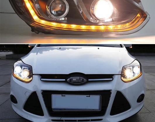 AL LED ヘッドライト 適用: フォード/FORD フォーカス 3 MK3 2012 2013 2014 LED DRL ダイナミック ターンシグナル ヘッド ランプ アセンブリ ムービング スタート AL-HH-2053