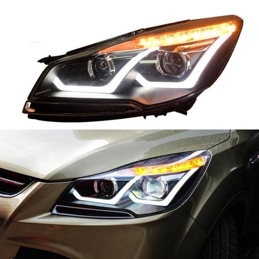 AL LED ヘッドライト 適用: フォード/FORD クーガ エスケープ 2013 2014 2015 LED DRL ターンシグナルライト ヘッド ランプ アセンブリ アップグレード AL-HH-2080