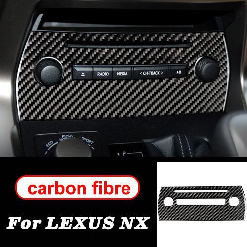 パネル LHD NX RHD パネル インテリア ドア ホイール レクサス CD トリム 適用: アクセサリー フレーム 300H200T ステアリング AL ギア 装飾 AL-II-0032 カーボンファイバー ステッカー