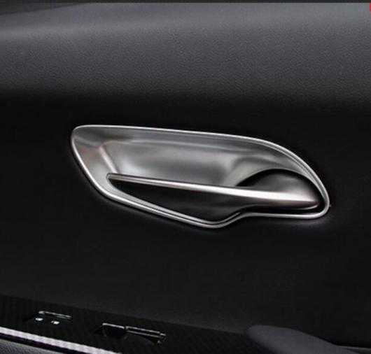 AL ABS クロームメッキ カーボンファイバー インナー ドア ハンドル ボウル ステッカー トリム 適用: レクサス UX200 250H インテリア カーボンファイバー・クロームメッキ AL-II-0120