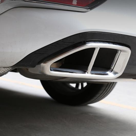 AL 適用: BMW 3シリーズ G20 G28 325 2019 2020 年 ステンレス クローム テール エキゾースト パイプ カバー トリム アクセサリー 光沢 ブラック・ポリッシュ シルバー AL-II-0172