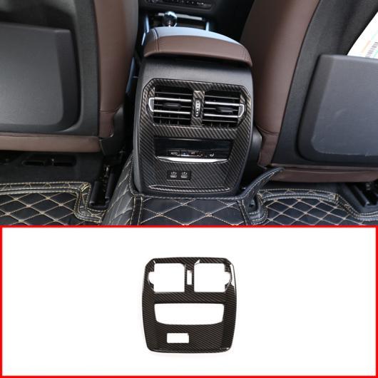 AL 2 スタイル ABS リア エア 吹き出し口 フレーム トリム 適用: BMW 3シリーズ G20 G28 325 2019 2020 カーボンファイバー・シルバー AL-II-0213