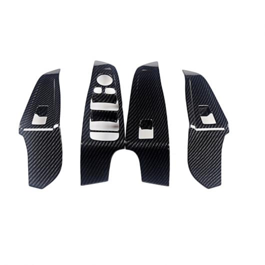 AL カーボンファイバー ABS クローム インテリア ドア ハンドル フレーム トリム 適用: BMW G20 G28 325 3シリーズ 2019 2020 左ハンドル車 アクセサリー ホワイト AL-II-0327