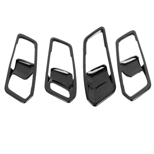 AL カーボンファイバー ABS クローム インテリア ドア ハンドル フレーム トリム 適用: BMW G20 G28 325 3シリーズ 2019 2020 左ハンドル車 アクセサリー レッド AL-II-0327