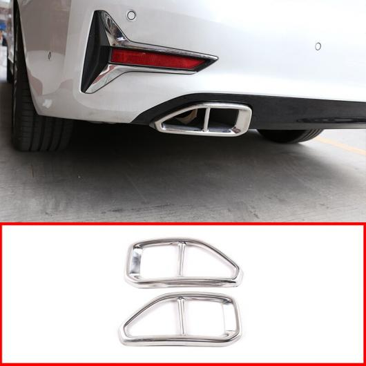 AL ステンレス スチール エキゾースト パイプ テール スロート トリム 適用: BMW 3シリーズ G20 G28 325 2019 2020 ブライト ブラック・ブライト ライト AL-II-0237