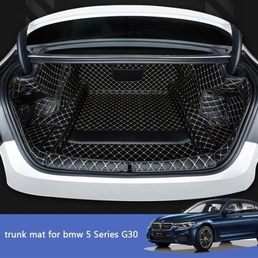 AL レザー トランク マット カーゴ ライナー 適用: BMW G30 2019 2020 520 530 525 540 535 ブーツ ラゲッジ リア ラグ ブラック レッド ワイヤー 2~ブラック ベージュ ワイヤー 2 AL-II-0276