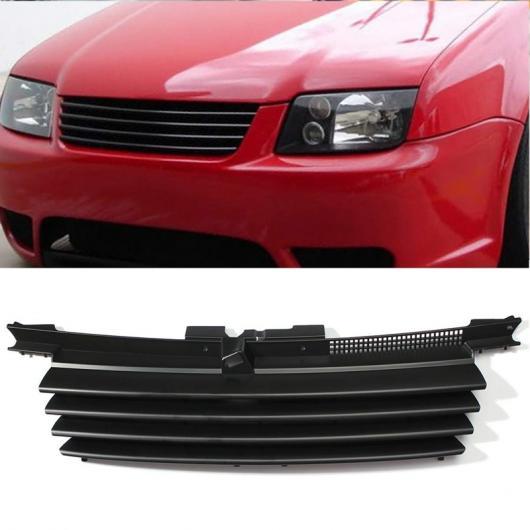 AL ブラック グリル-マット ブラック フロント フード グリル 適用: VW フォルクスワーゲン/VOLKSWAGEN ジェッタ/ボーラ MK4 1999-2004 1J5853655C ブラック AL-II-0409