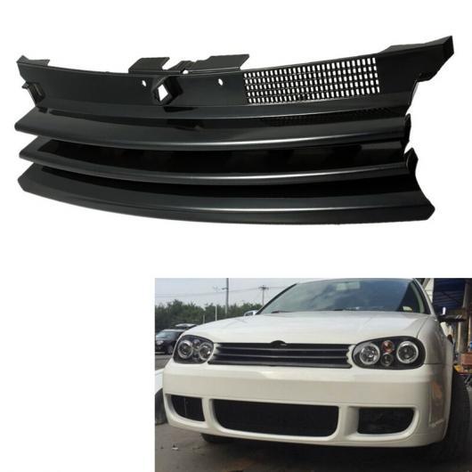 AL ブラック グリル フロント フード VW フォルクスワーゲン/VOLKSWAGEN ゴルフ 4 MK4 GTI R32 1997-2004 1J0853655G ブラック AL-II-0478