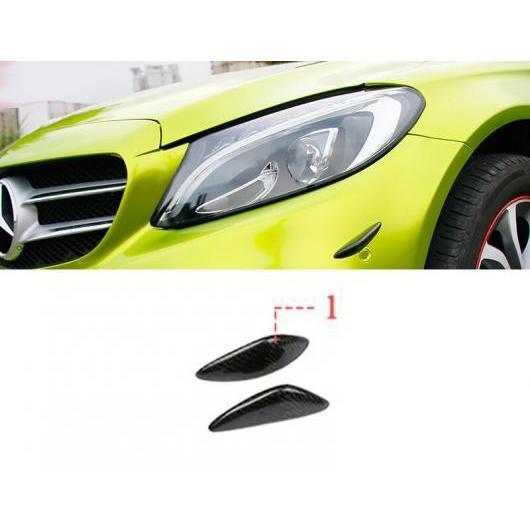 AL カーボンファイバー アクセサリー フォグ スラット グリル ライト AL-II-0962 クラス 装飾 ストリップ W205 カーボンファイバー カバー カバー ベンツ メルセデス 適用: C ランプ