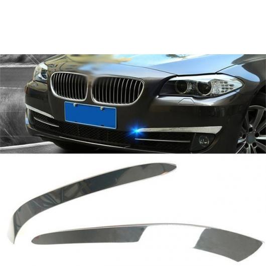 AL フロント フォグライト アイブロー 装飾 トリム ストリップ ステッカー カバー 適用: BMW 5シリーズ GT F10 F07 2011-13 シルバー AL-II-0982
