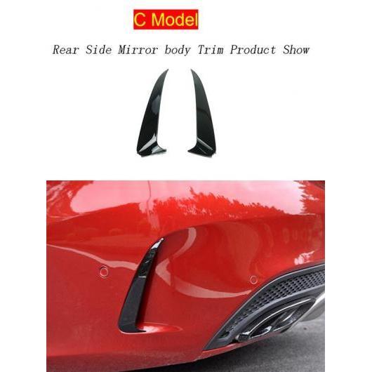AL カーボンファイバー ヘッド フォグランプ グリル スラット オート ライト カバー ステッカー 適用: メルセデス ベンツ C クラス W205 C モデル ブラック AL-II-1028