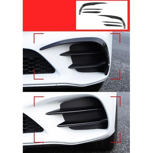 AL 適用: メルセデス ベンツ C クラス W205 C43 C63 適用: AMG フロント フォグライト ランプ カーボンファイバー トリム カバー ステッカー ロング ブラック AL-II-1051