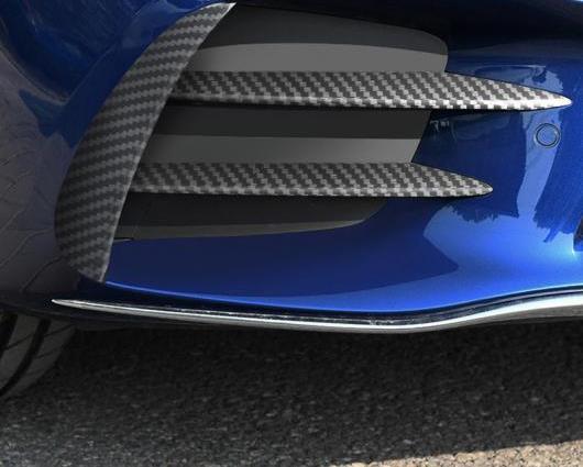 AL 適用: メルセデス ベンツ C クラス W205 ヘッド フォグランプ グリル スラット オート ライト カバー ステッカー トリム カーボンファイバー ブラック・カーボンファイバー AL-II-1013