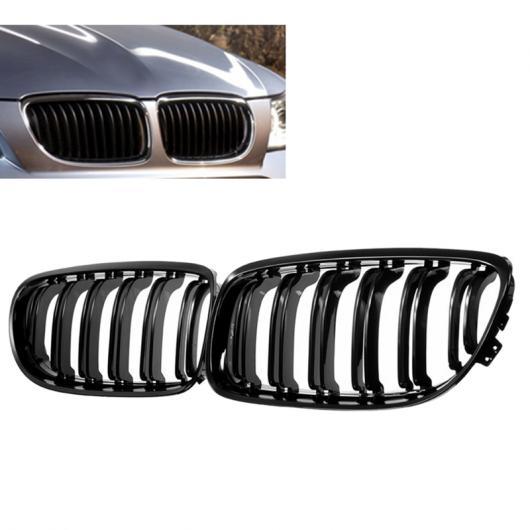 AL 1 ペア フロント グリル 光沢 ブラック インレット グリル 適用: BMW E90 LCI 3シリーズ セダン/ワゴン 2009-2011 ブラック AL-II-1131