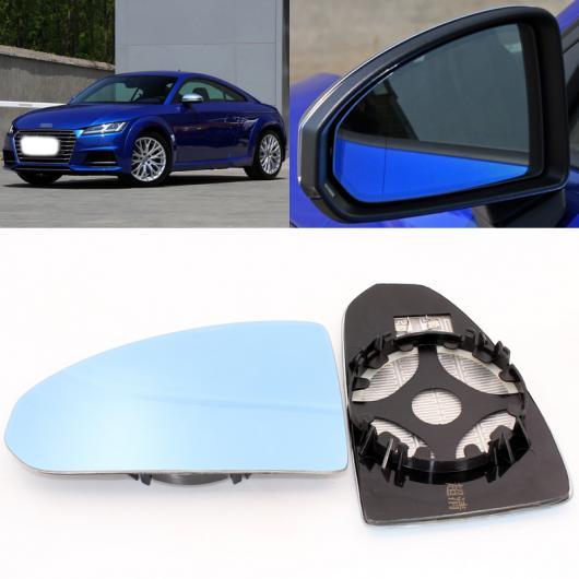 AL 適用: アウディ/AUDI TT 2007-2017 サイド ビュー ドア 広角 バックミラー ミラー ブルー ガラス ベース ヒーテッド 2ピース AL-II-1197
