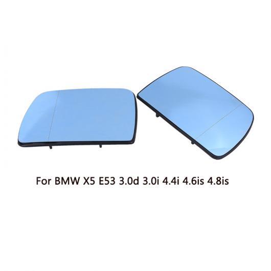 AL L + R リア ビュー ドア ウイング ミラー ガラス ヒーテッド ブルー ミラー 51167039597 適用: BMW X5 E53 3.0D 3.0i 4.4i 4.6iS 4.8iS 2000-2006 左・右 AL-II-1227