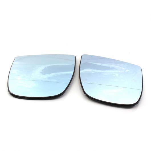 AL 左&右側 ブルー/ホワイト ヒーテッド 電動 ワイド アングル ウイング ミラー ガラス 適用: 2008-2014 BMW X5 E70 X6 E71 E72 ホワイト 右・ホワイト 左 AL-II-1299