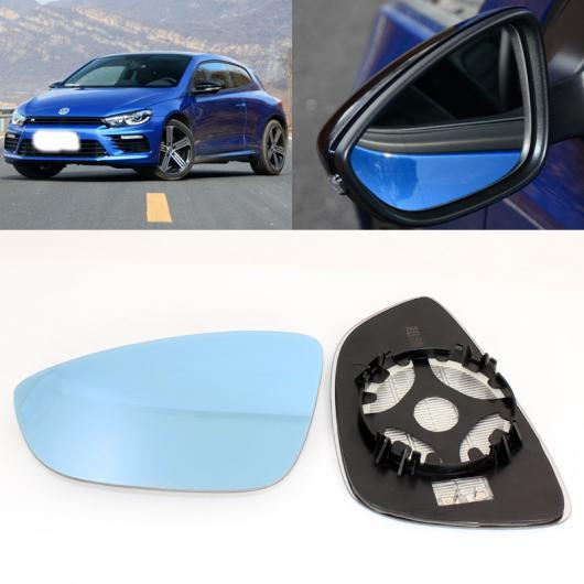 AL 適用: フォルクスワーゲン/VOLKSWAGEN シロッコ サイド ビュー ドア 広角 バックミラー ミラー ブルー ガラス ベース ヒーテッド 2ピース AL-II-1353