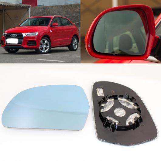 AL 適用: アウディ/AUDI Q3 サイド ビュー ドア 広角 バックミラー ミラー ブルー ガラス ベース ヒーテッド 2ピース AL-II-1354