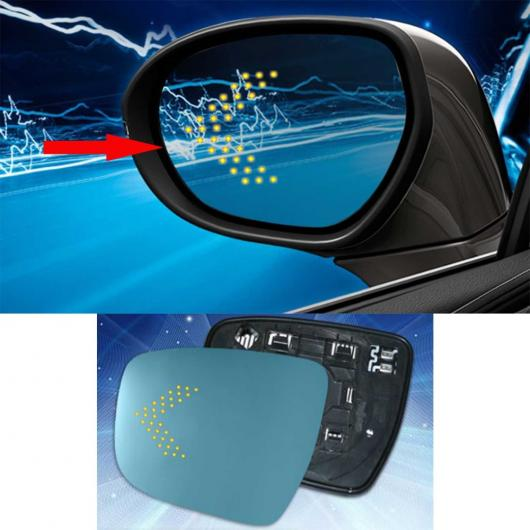 AL LED 電動 ヒート リバース ラージ ブルー ミラー レンズ 適用: 日産 エクストレイル 2008 2012・2014- 2017 AL-II-1421