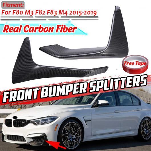 格安 AL F80 AL 2ピース リアル カーボンファイバー F80 2015-2019 F82 フロント バンパー スプリッタ リップ ディフューザー スポイラー プロテクター 適用: BMW M3 F83 M4 2015-2019 AL-II-3204, アトツーネットショップ:fce66f05 --- bellsrenovation.com