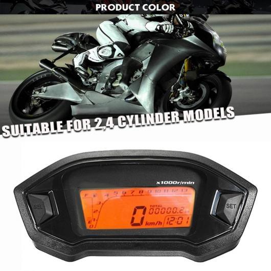 送料無料 2輪 AL ユニバーサル オートバイ LCD デジタル スピードメーター 13000 爆安プライス RPM タイプD 人気ブランド 2-4 適用: メーター AL-KK-4925 バックライト シリンダー オドメーター タコメーター