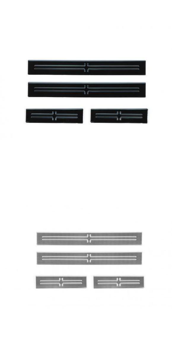 アクセサリー シル 適用: カバー スチール 2015-2020 アウター ステンレス チャージャー ガード ブラック・シルバー AL-KK-6957 ドア プレート ダッジ 装飾 インテリア AL