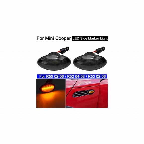 送料無料! AL 2ピース エラー LED サイドマーカー ライト アンバー ウインカー ウインカー インジケーター ランプ 適用: ミニ クーパー R50 02-06 R52 04-08 R53 02-06 AL-MM-5657