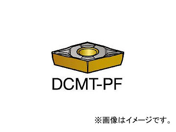 サンドビック/SANDVIK コロターン107 旋削用ポジ・チップ DCMT070202PF 5015(6078184) 入数:10個