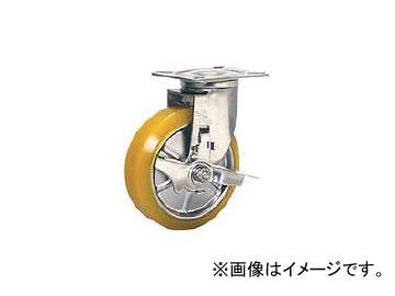 シシクアドクライス/SISIKU ステンレスキャスター 制電性ウレタン車輪自在ストッパー付 SUNJB125SEUW(3535398) JAN:4537657543308