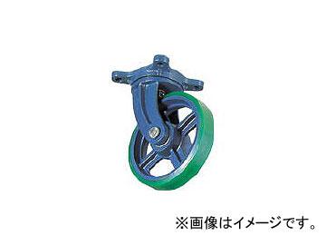 京町産業車輌/KYOMACHI ダクタイル製自在金具付ウレタン車輪 200mm FJ200