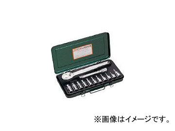 前田金属工業/TONE ヘキサゴンソケットレンチセット 吋目 13pcs HB4112(3964388) JAN:4953488202397