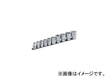 前田金属工業/TONE SUSソケットセット(6角・ホルダー付) 10pcs SHS310(3877230) JAN:4953488190410