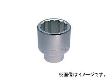 京都機械工具/KTC 25.4sq.ソケット(十二角) 80mm B5080(3448142) JAN:4989433105420