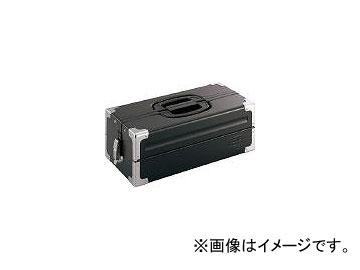 前田金属工業/TONE ツールケース(メタル) V形2段式 マットブラック BX322SBK(3904369) JAN:4953488220537