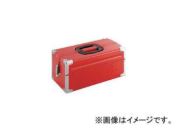 前田金属工業/TONE ツールケース(メタル) V形2段式 433×220×195mm レッド BX322(3904334) JAN:4953488220544