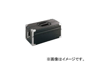 前田金属工業/TONE ツールケース(メタル) V形2段式 マットブラック BX322BK(3904342) JAN:4953488220568