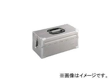 前田金属工業/TONE ツールケース(メタル) V形2段式 シルバー BX322SV(3904385) JAN:4953488220551