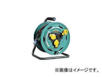 ハタヤリミテッド/HATAYA 防雨型業務用戦力リール 単相100Vアース・ブレーカー付 30m BN30K(3702791) JAN:4930510204406