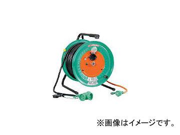 日動工業/NICHIDO 電工ドラム 防雨防塵型びっくリール100V アース付 30m RBWE30S(1255771) JAN:4937305002322