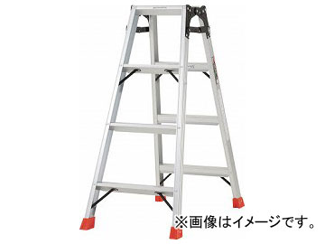 トラスコ中山/TRUSCO はしご兼用脚立 アルミ合金製脚カバー付 高さ1.11m TPRK120(2737591) JAN:4989999780420