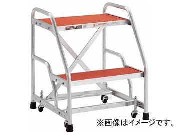 トラスコ中山/TRUSCO 作業用踏台 アルミ製 キャスター付 高さ0.6m 2段 TAF92(2568233) JAN:4989999791464