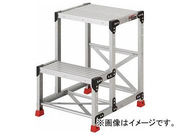 トラスコ中山/TRUSCO 作業用踏台 アルミ製・高強度タイプ 2段 TSF257(2621649) JAN:4989999791525