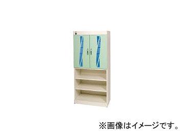 コトヒラ工業/KOTOHIRA 殺菌灯方式スリッパ殺菌ロッカー10足+下足棚 KESGL010G