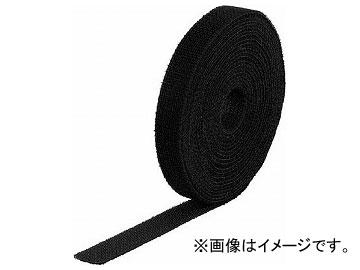 トラスコ中山/TRUSCO マジック結束テープ 両面 黒 20mm×25m MKT40250BK(4089961) JAN:4989999176346