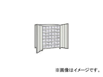 トラスコ中山/TRUSCO 軽量棚扉付 875×533×H1200 樹脂引出透明 小×42 43XT808C7 NG(5042755) JAN:4989999721720
