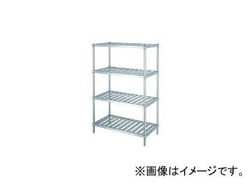 シンコー/SHINKOHIR ステンレスラックスノコ棚4段 RS412060